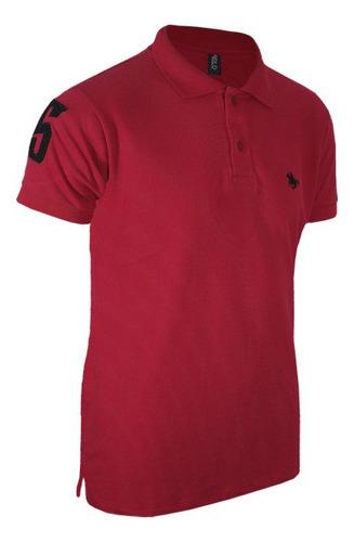 kit com 03 polos tradicionais  -branco - vermelho e preto