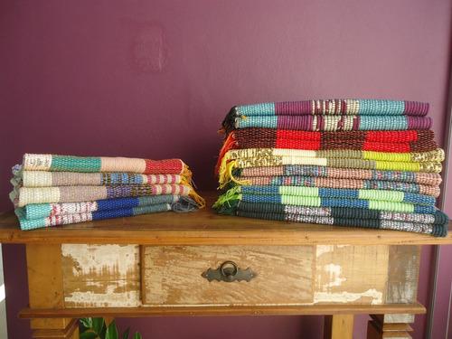 kit com 04 tapetes baianinha artesanais 80 x 50cm