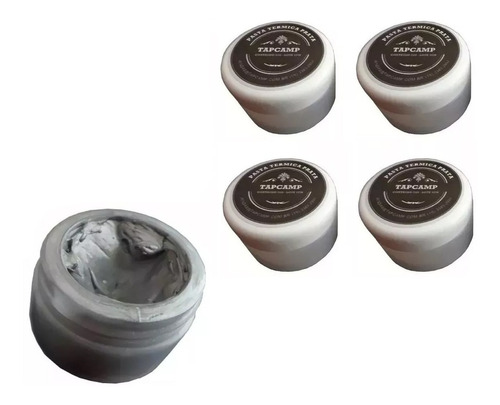 kit com 04 unidades pasta térmica prata, silver pote 20 gr