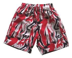 16c0334cd0279a Kit Com 05 Bermuda Short Infantil Tactel Elástico Estampada