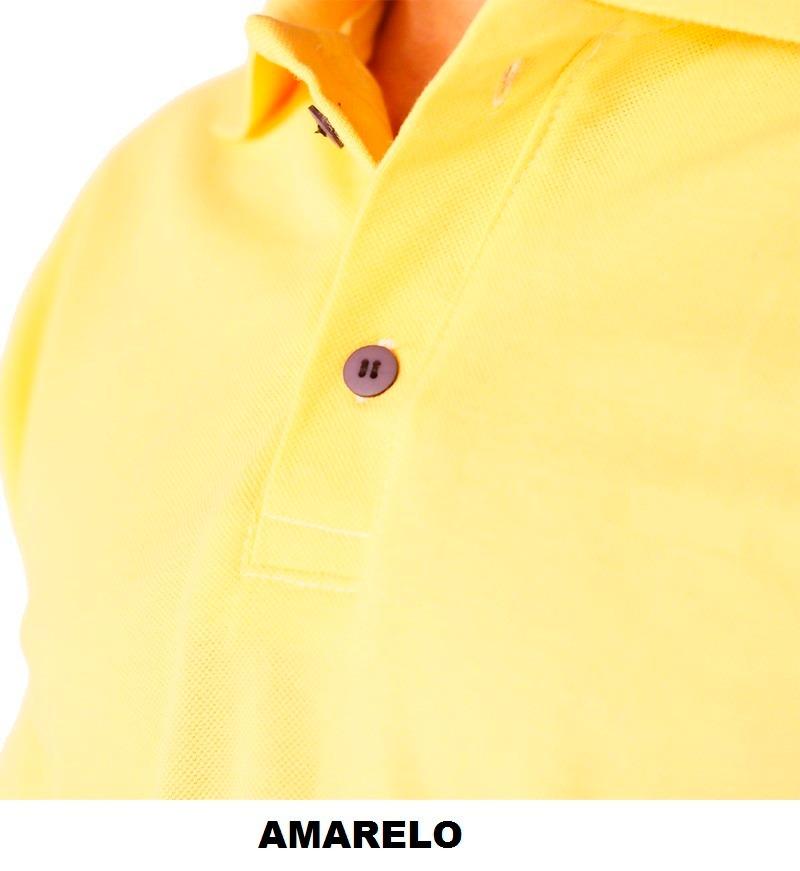 Kit Com 05 Camisas Polo Logo Bordado No Bolso Personalizada - R  245 ... 7e61874a8e879