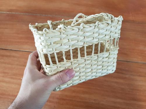 kit com 10 - bolsa infantil bolsinha de palha lembrancinhas