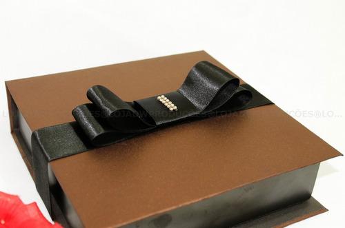 kit com 10 caixas personalizadas metalizado