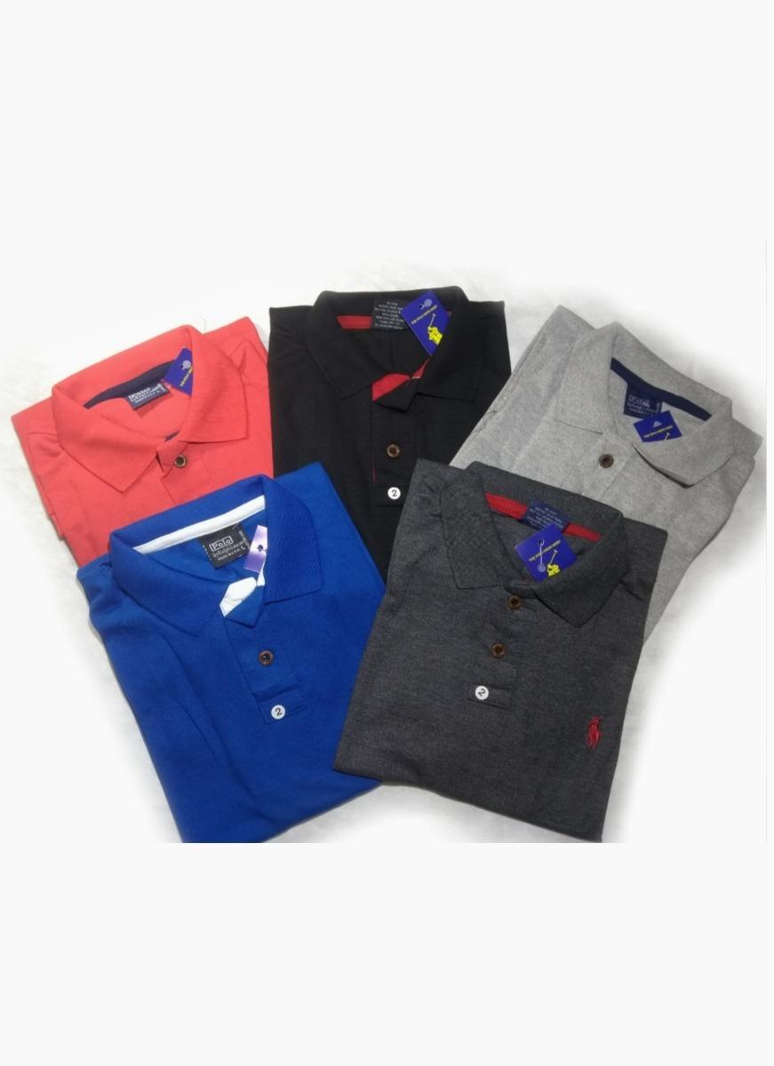 Kit Com 10 Camisa Polo Masculina Plus Size G1 G2 G3 Oferta - R  325 ... 856ae9754fc72
