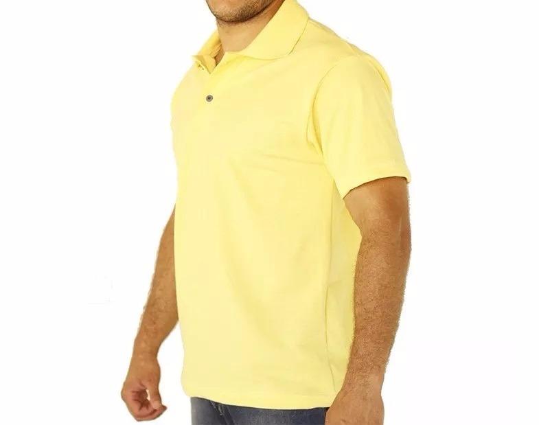 fcef9b0eba Kit Com 10 Camisas Polo Logo Bordado No Bolso Personalizada - R  490 ...