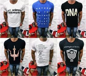 ab3658364012d4 Camiseta Osklen - Camisetas Masculinas Curta com o Melhores Preços no  Mercado Livre Brasil