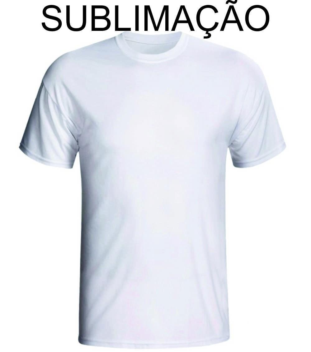 Kit Com 10 Camisetas Branca Lisa Sublimação 100% Poliester - R  89 ... 0fe8ff86d993f