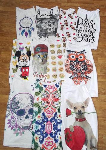 kit com 10 camisetas desenhas diferentes com preço atacado