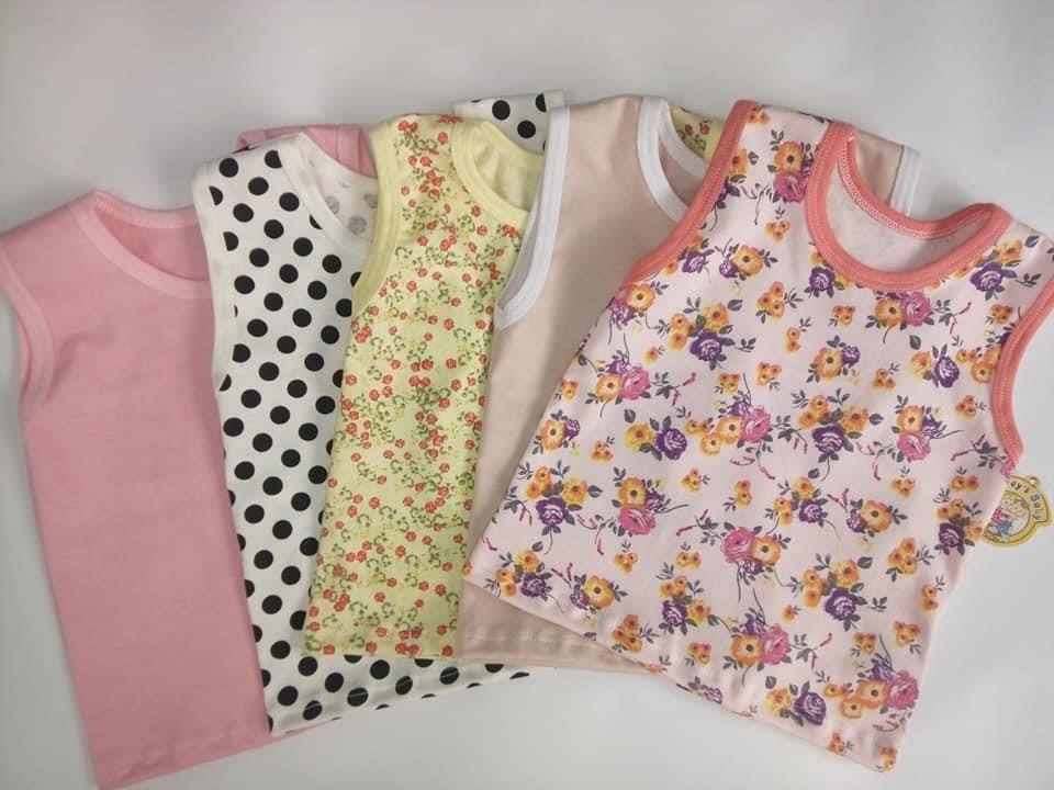 Kit Com 10 Camisetas Regata Bebê Menina 3e0b522156f