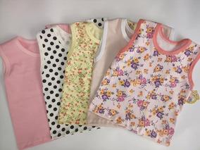 fcb588880a Kit Com 10 Camisetas Regata Bebê Menina