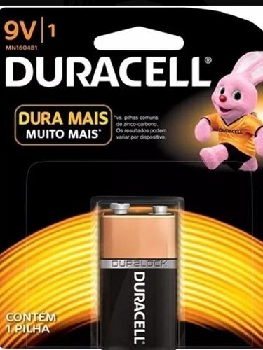kit com 10 cartelas pilha duracell 9v + brinde