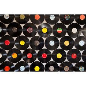 Kit Com 10 Discos De Vinil Para Artesanato E Decoração 30 Cm