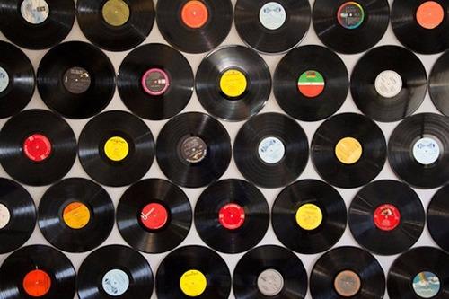 kit com 10 discos de vinil para artesanato e decoração