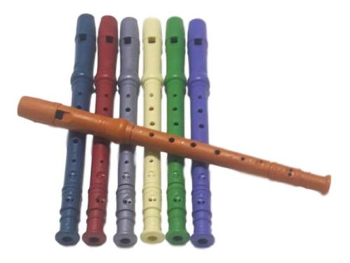 kit com 10 flauta doce infantil brinquedo barato prenda 30cm