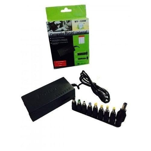 kit com 10 fonte carregador adaptador universal notebook my