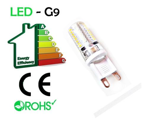 kit com 10 lâmpada led halopim g9 para lustres 3w bivolt