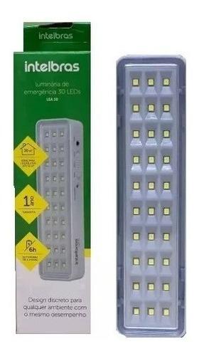 kit com 10 luminárias emergência intelbras 30 leds combo