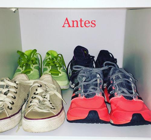 kit com 10 organizador de sapatos calçados rack ajustável