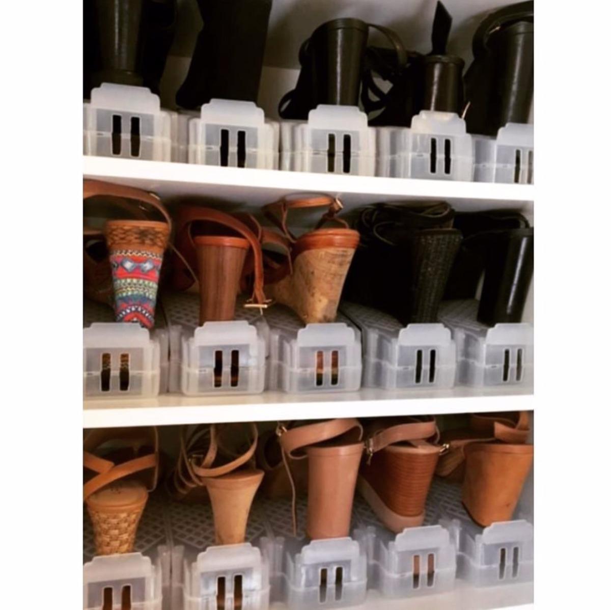 b75cb15c9 Kit Com 10 Organizadores Para Sapatos Transparente - R$ 199,00 em ...