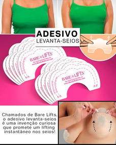 b583ace55 Kit 10 Pares De Bare Lift Adesivo Para Levantar Os Seios no Mercado Livre  Brasil