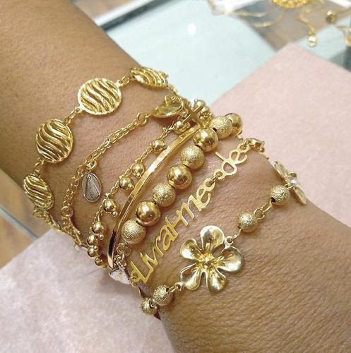 kit com 10 pulseiras folheadas a ouro atacado para revender