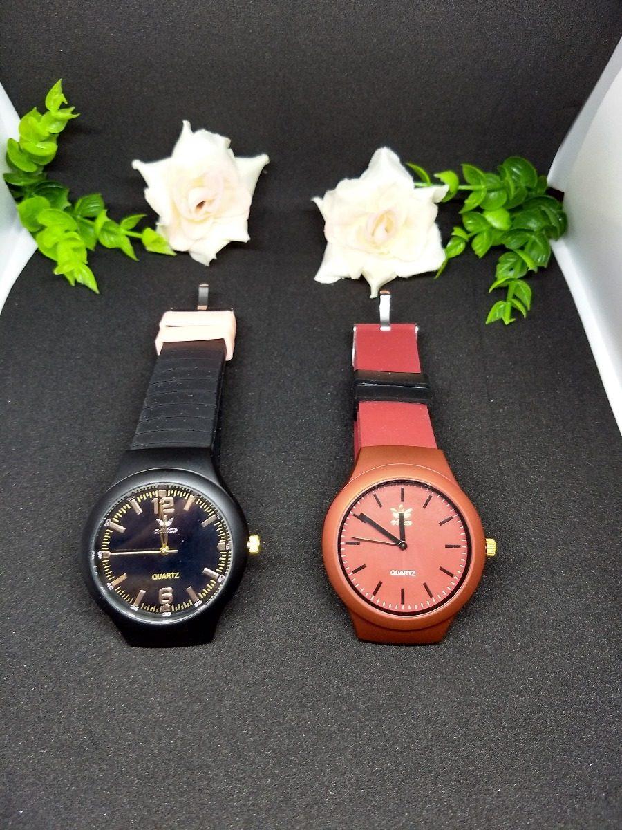 614a28a2777 ... relógio feminino adidas pulseira de borracha. Carregando zoom.