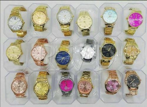 kit com 10 relógios feminino atacado + caixas