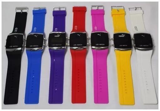 c0a61c6f54c Kit Com 10 Relógios Led Digital Unisex + Caixa Menor Preço - R  157 ...