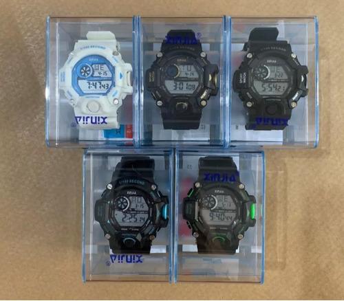 kit com 10 relógios masculino resistente+caixas atacado lote