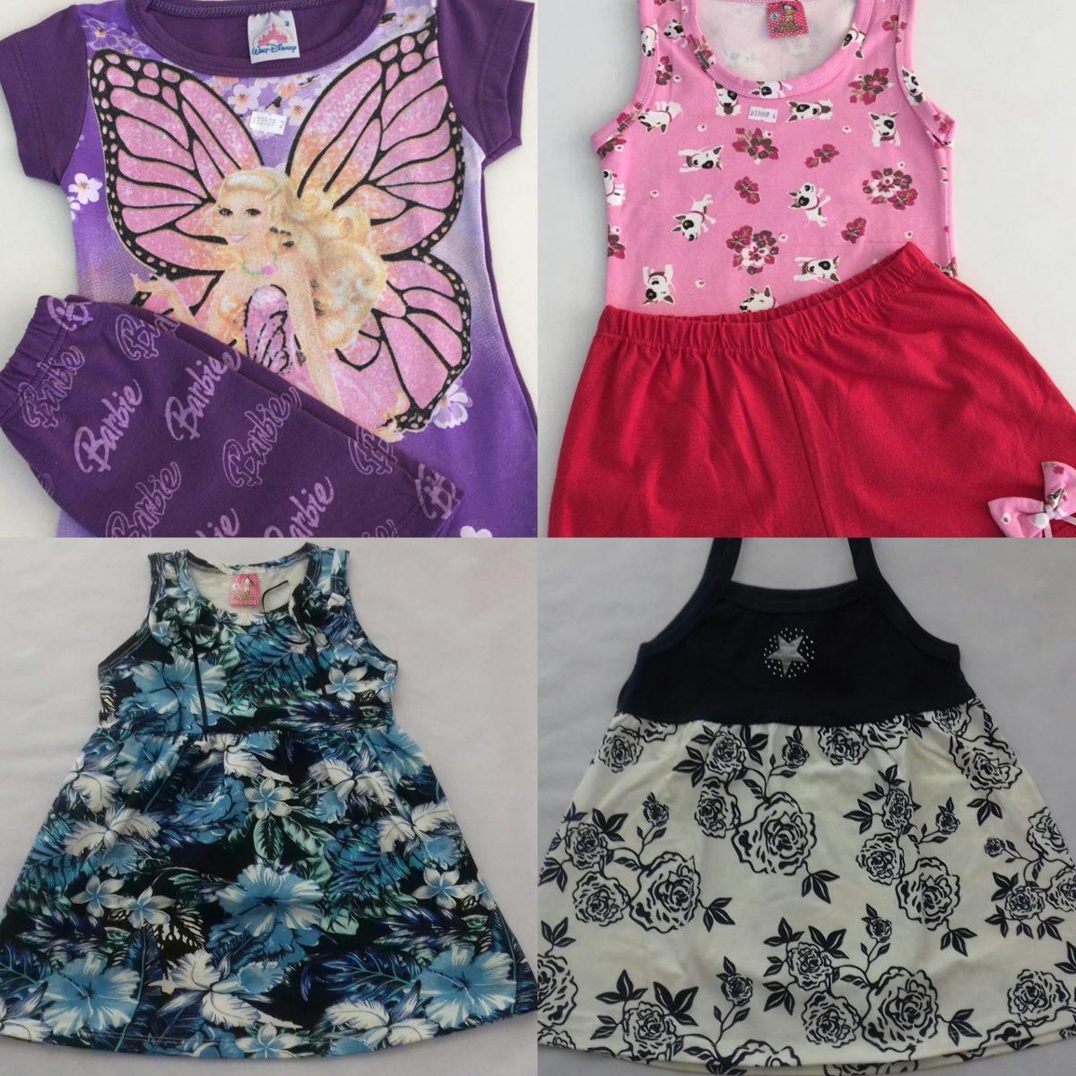 9bf4e82a6994 Kit Com 10 Roupas Infantil Meninas Tamanho 1 A 8 Anos - R$ 175,00 em ...
