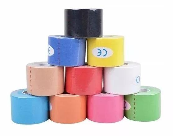 b770016eb3 Kit Com 10 Unidades Fita Kinesio Tape Bandagem 5 Metros - R  268