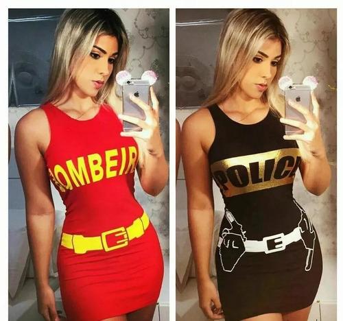 kit com 10 vestidos herois do carnaval 2018 fantasia sortido