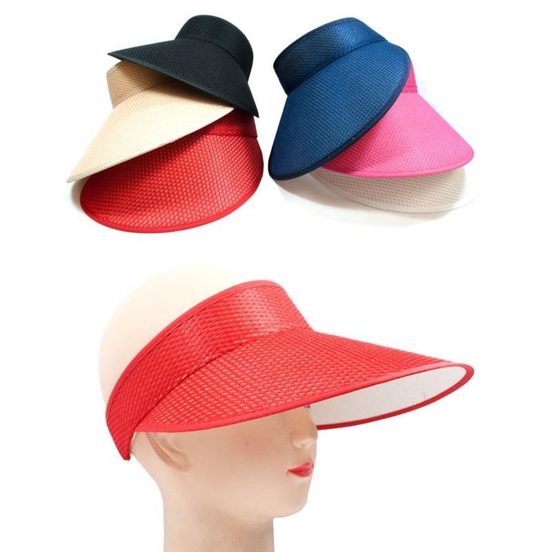 fac5b0029e7a0 kit com 10 viseiras feminina praia chapeu boné aba larga. Carregando zoom.