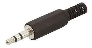 kit com 100 plug p2 plástico stereo