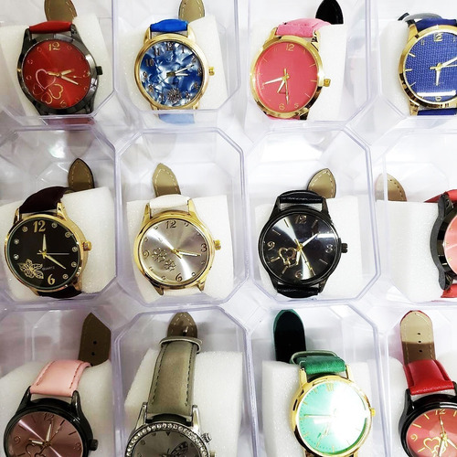 kit com 12 de relógio feminino atacado para revenda barato