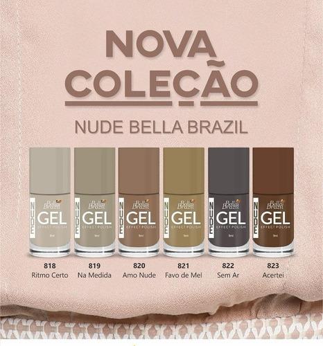 kit com 12 esmalte em gel bella brazil seca sem cabine uv