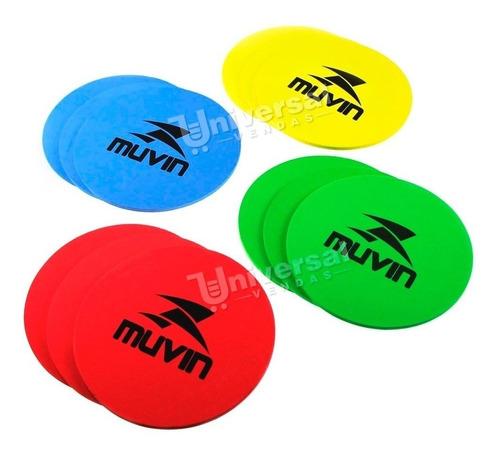 kit com 12 marcadores de eva treinamento funcional muvin