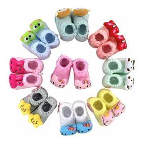 126eac2baa4a93 Kit Com 12 Meias Sapatinhos Pantufas Infantil Bebê E Rn