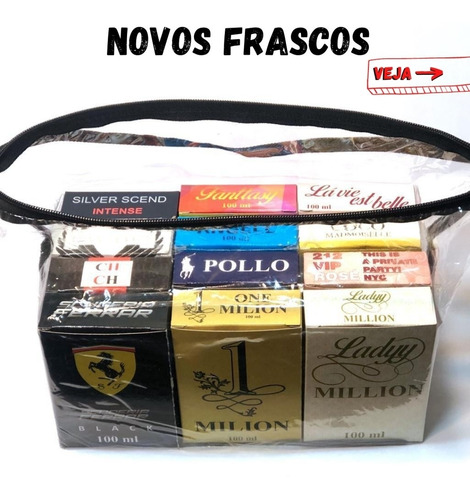 kit  com 12 perfumes - para revenda - todos 100ml - fixa 8hs