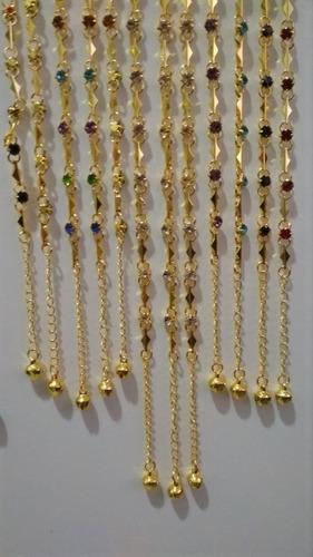 kit com 12 pulseiras foleadas a ouro - pra revendedores