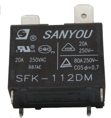 kit com 12 relé sanyou sfk 112dm 12vcc 20a p/ ar cond split