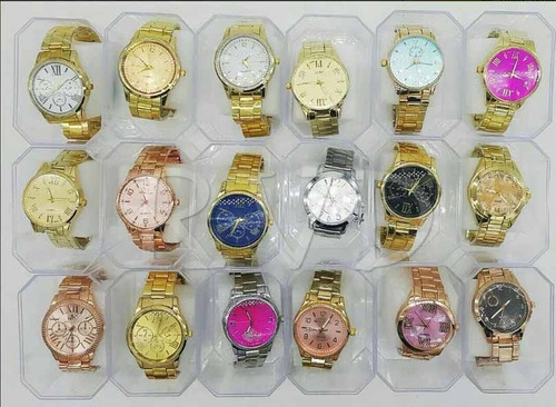 kit com 12 relógios feminino atacado + caixas