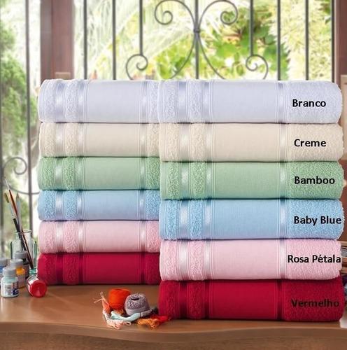 kit com 12 toalhas de lavabo bordar - louise ponto russo