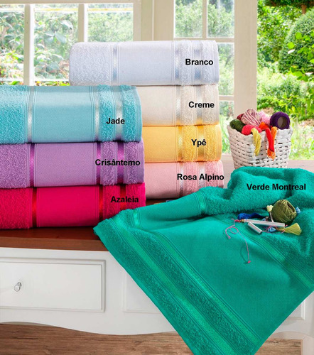 kit com 12 toalhas de lavabo para bordar - louise (atacado)