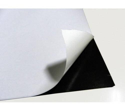kit com 120 folhas manta magnética adesivada a4