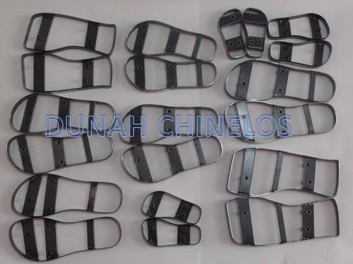 kit com 13 formas/facas p/ corte de chinelos mod. havaianas