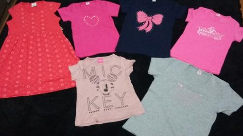 kit com 14 peças de roupas infantis femininas revenda