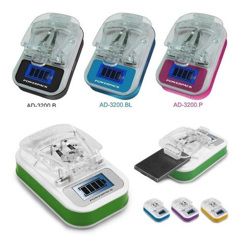 kit com 15 carregador universal de bateria várias cores