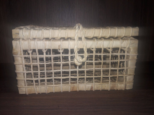 kit com 15 - cesta de palha lembrancinhas baú n1 21x12x11