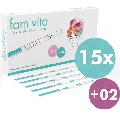 kit com 15 testes de ovulação famivita +2 testes de gravidez